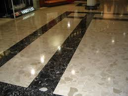 Commercial marble floor cleaning